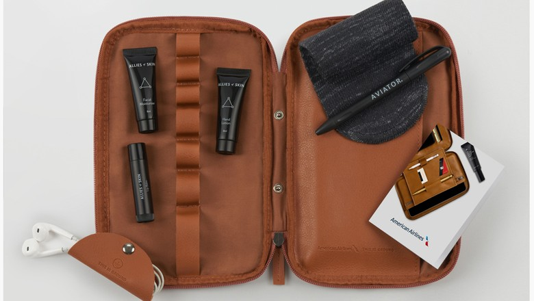 Tas amenitas First Class American Airlines (American Airlines)
