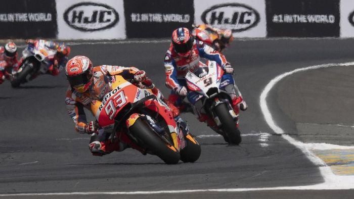 Marc Marquez memimpin posisi start MotoGP Prancis, yang bisa ditonton live streamingnya di detikSport (Mirco Lazzari gp / Getty Images)