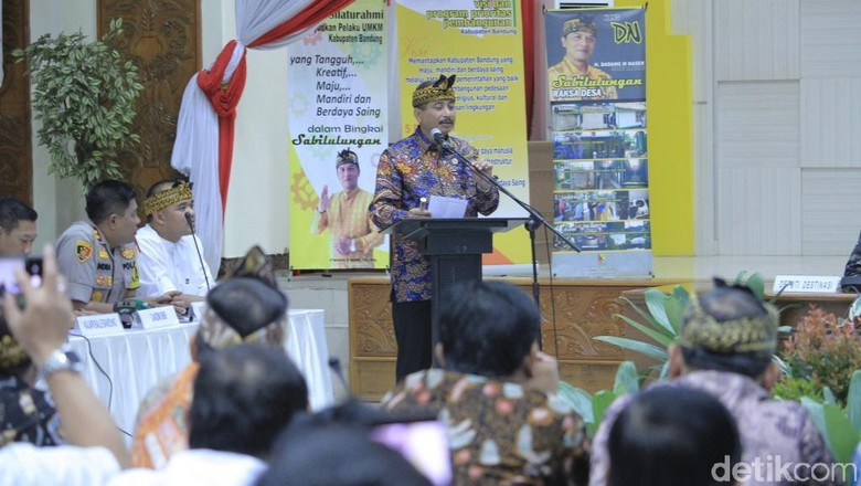 Menpar Arief Yahya di Kabupaten Bandung (Wisma Putra/detikcom)