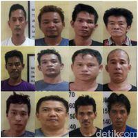 12 Tahanan kabur masih buron.