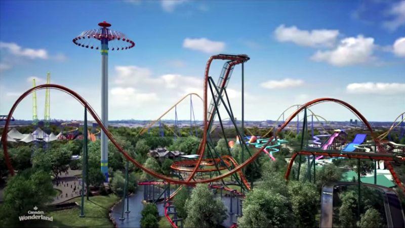 Inilah Yukon Striker, wahana roller coaster yang diklaim sebagai yang tercepat, tertinggi dan terpanjang di dunia. Roller coaster ini berada di Kota Toronto, Kanada. (Canada Wonderland)