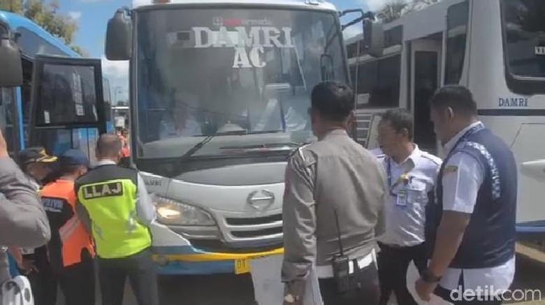 Ramp Check Angkutan Lebaran di Kendari, 2 Bus Dinyatakan Laik Jalan