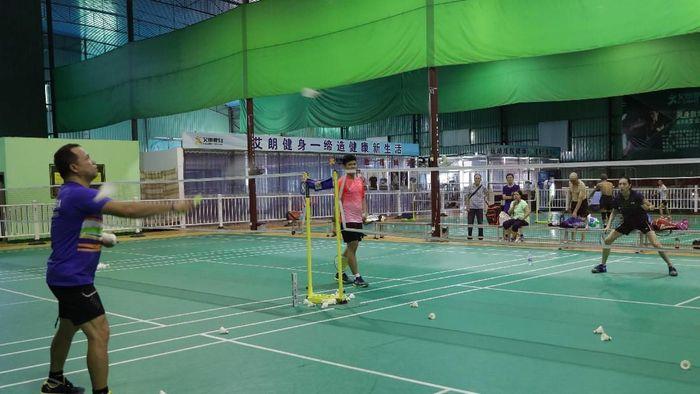 Indonesia berlatih di Piala Sudirman 2019 (dok. PBSI)