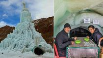 Kafe Unik Ini Terletak di Dalam Gletser Es di Ketinggian 14 Ribu Kaki!