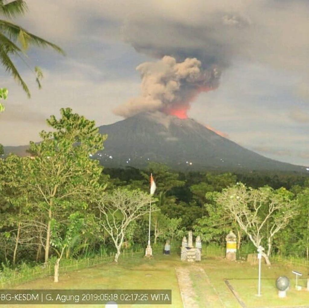 Gunung Agung Erupsi, Beberapa Jadwal Penerbangan dari Bali Dibatalkan