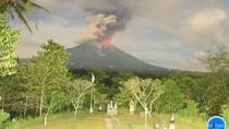 Gunung Agung Erupsi, Sejumlah Daerah di Karangasem Hujan Abu