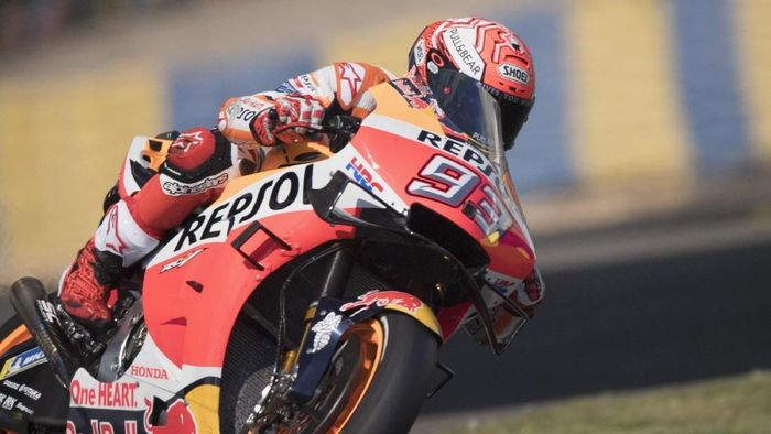 Marc Marquez merebut pole position MotoGP Prancis. (Foto: Mirco Lazzari gp/Getty Images)