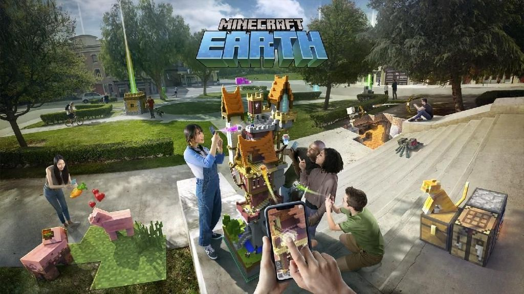 Microsoft Umumkan Game Minecraft Earth Mirip Pokemon Go