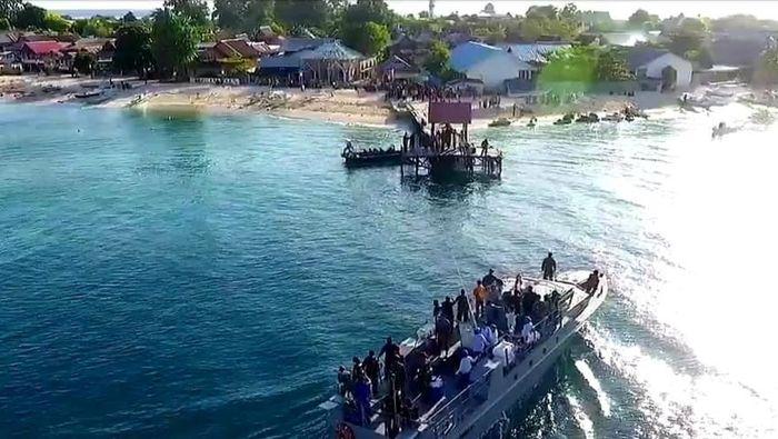 Bank Indonesia Perwakilan Sulsel bersama Lantamal VI menggelar penukaran uang Lebaran di Pulau Kodingareng.Foto:Pool/Dok. Lantamal VI Makassar