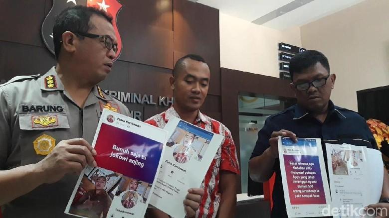 Guru Honorer yang Ancam Bunuh Jokowi Sempat Tantang Polisi