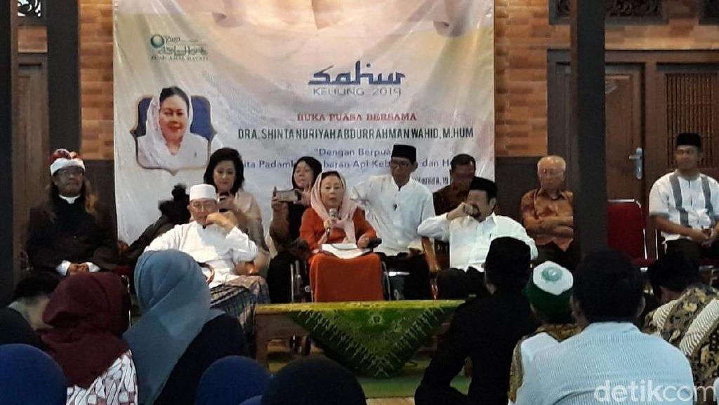 Jelang 22 Mei, Istri Gus Dur Imbau Masyarakat Tetap Tenang