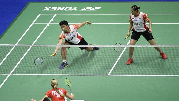 Praveen Jordan/Melati kalah dari Pasangan asal Inggris di Piala Sudirman (ANTARA FOTO/Wahyu Putro A)