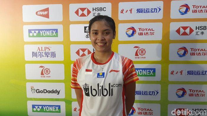 Gregoria Mariska Tunjung belum puas meski menang di pertandingan pertama Piala Sudirman (Novitasari Dewi Salusi/detikSport)