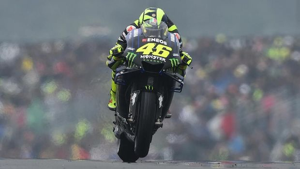 Valentino Rossi berada di peringkat ketiga. (