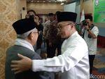 Bertemu di Bukber Perti, Zulkifli Hasan Ucapkan Selamat ke Maruf Amin