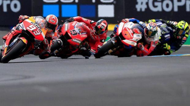 Marc Marquez hanya mendapat tekanan hingga pertengahan balapan MotoGP Prancis 2019.