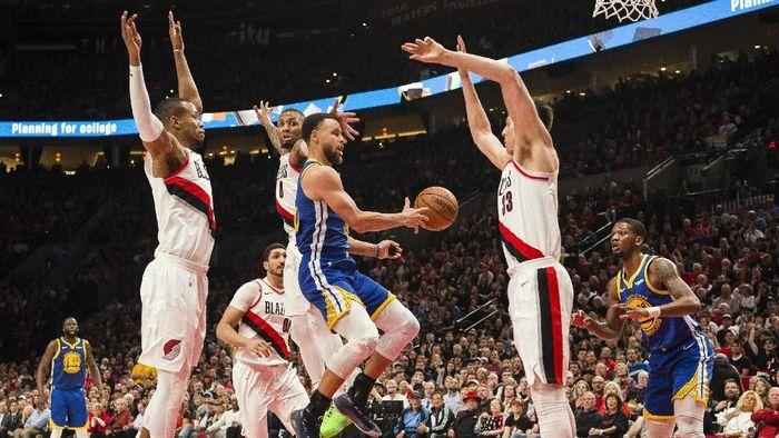 Golden State Warriors menangi gim ketiga kontra Portland Trail Blazers (Troy Wayrynen-USA TODAY Sports)