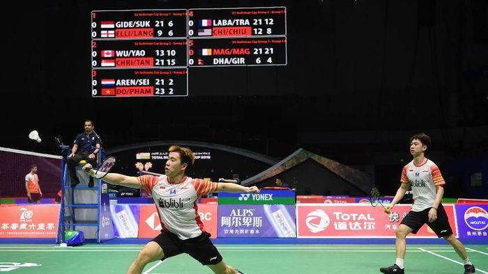 Indonesia menang 4-1 atas Inggris di Piala Sudirman 2019 ()ANTARA FOTO/Wahyu Putro A