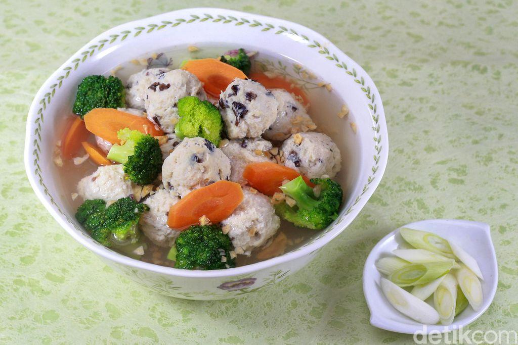 resep philips : chicken balls with veggie