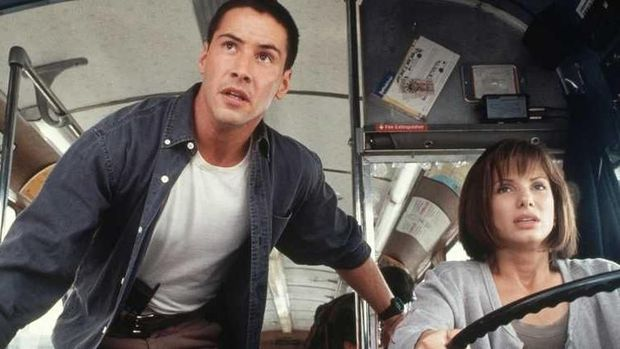 Adegan film Speed, Keanu Reeves dan Sandra Bullock