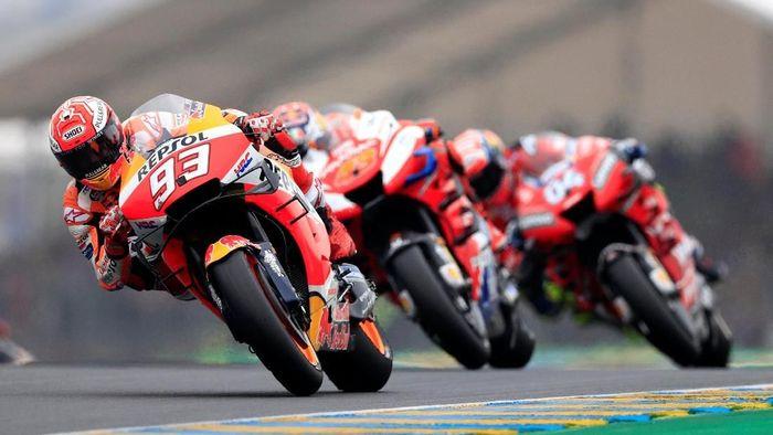 Buat Marc Marquez, Andrea Dovizioso masih menjadi pesaing terberatnya (Gonzalo Fuentes/Reuters)