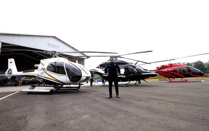 PT Whitesky Aviation menawarkan mudik mewah pakai helikopter. Istimewa.