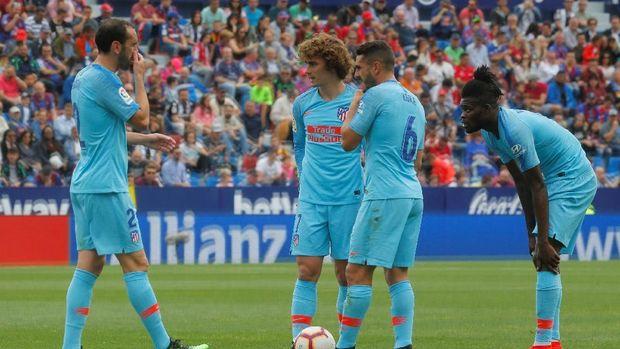 Antoine Griezmann dicemooh para fan Atletico Madrid. (