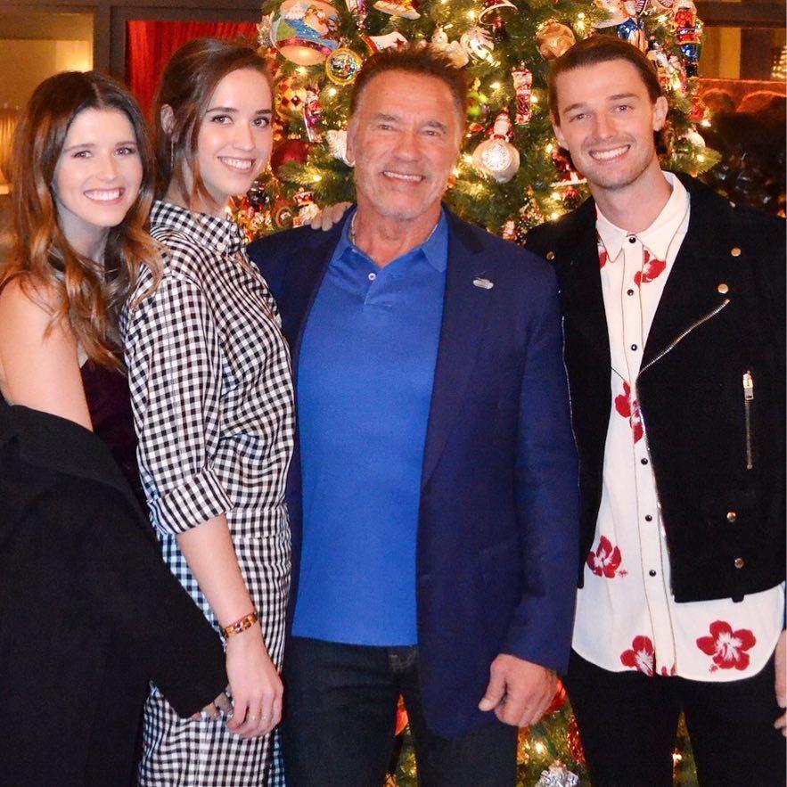 Arnold Schwarzenegger dan anaknya