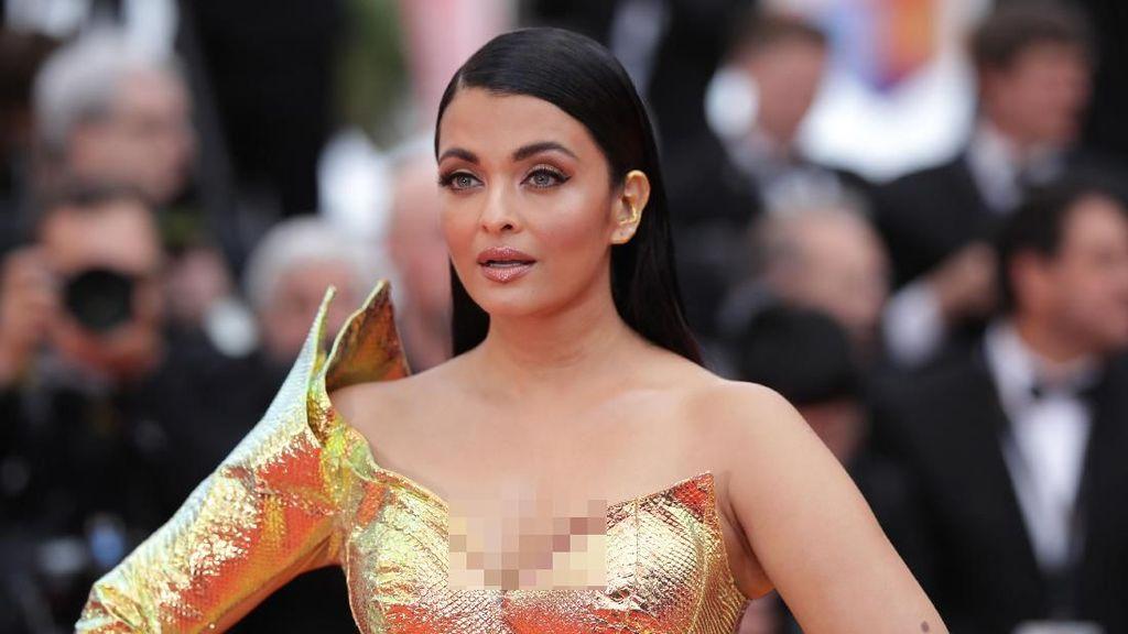 Foto: Disebut Mirip Ikan Mas, Ini Penampilan Aishwarya Rai di Cannes 2019