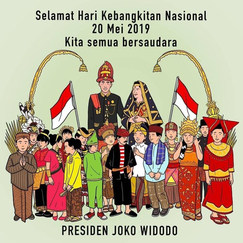 Jokowi Posting Ilustrasi Keberagaman di Hari Kebangkitan Nasional Foto: Jokowi/Karya Adalah Doa
