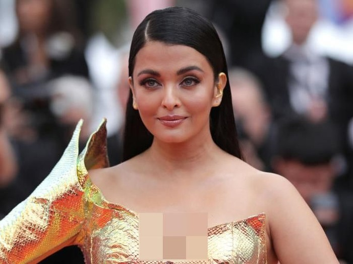 CANNES, FRANCE - MAY 19: Aishwarya Rai attends the screening of A Hidden Life (Une Vie Cachée) during the 72nd annual Cannes Film Festival on May 19, 2019 in Cannes, France. (Photo by Andreas Rentz/Getty Images)