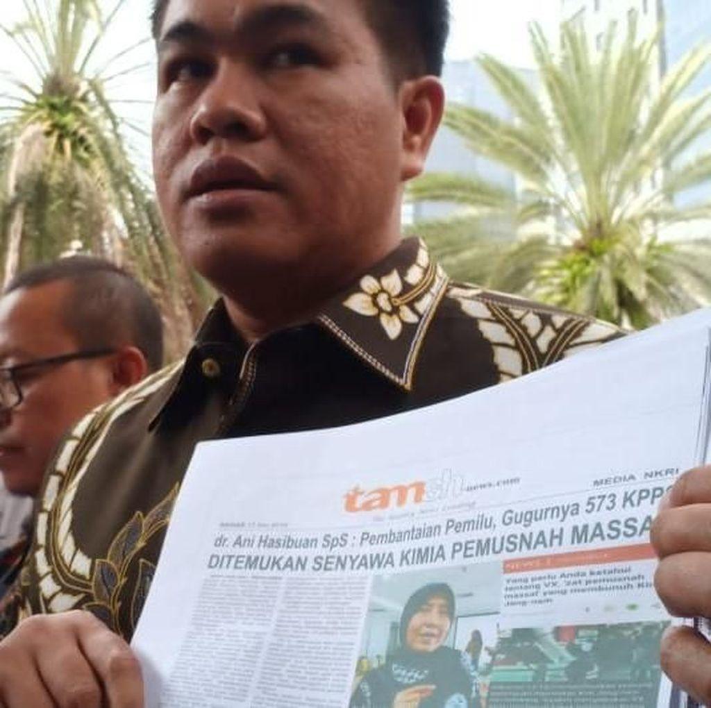 Dokter Ani Hasibuan Resmi Laporkan Tamshnews.com ke Polda Metro