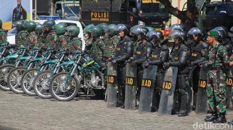 Pastikan Sulsel Aman Jelang 22 Mei, TNI-Polri Gelar Patroli Gabungan