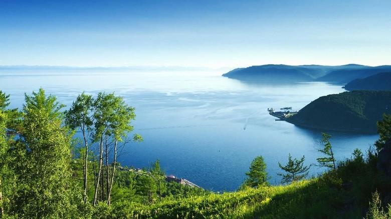 Waters of Lake Baikal, The water surface of Baikal, a beautiful landscape