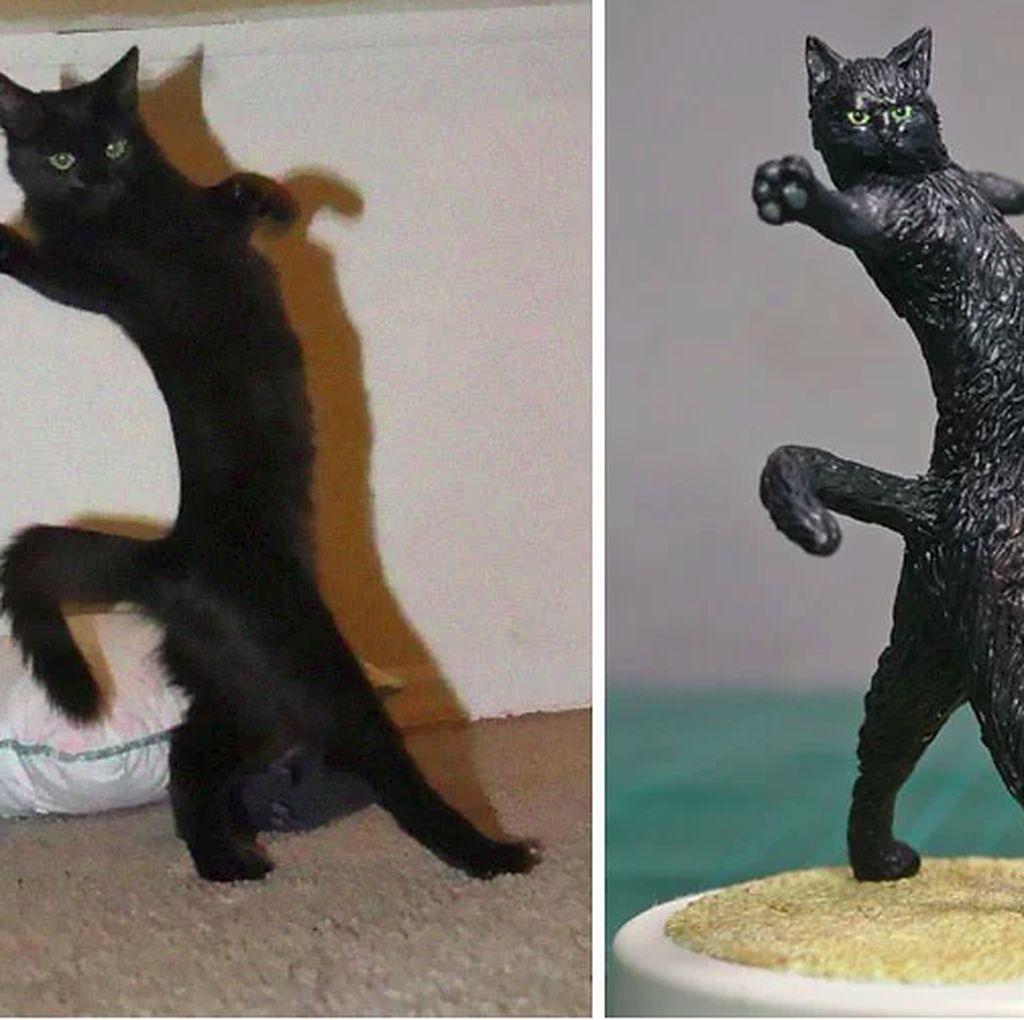 Gemas! Ketika Meme Hewan Dijadikan Karya Patung 3D