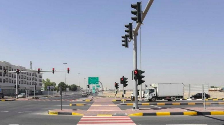 Lampu lalu lintas di Dubai. Foto: Khaleej Times