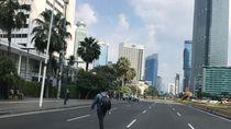 Penampakan Terkini Jalan MH Thamrin Jakarta: Sangat Lengang