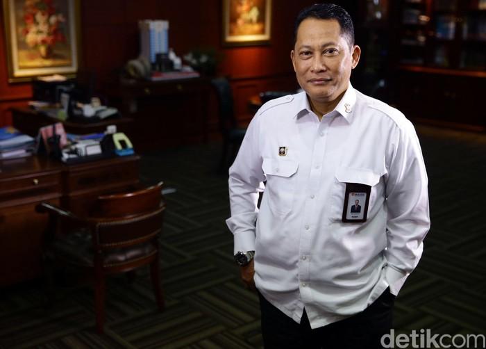 Detikcom Blak-blakan bersama Kepala Bulog Budi Waseso di Jakarta, Selasa (21/5/2019).