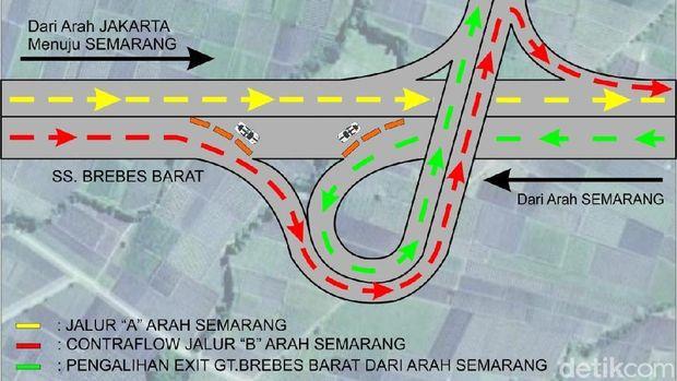 peta pemberlakuan one way