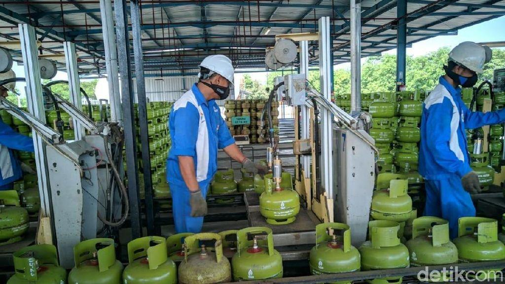Jelang Lebaran, Stok Gas Elpiji 3 Kg di Ponorogo Aman
