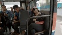 Naik Metro Mini, Nagita Slavina Tertidur Pulas