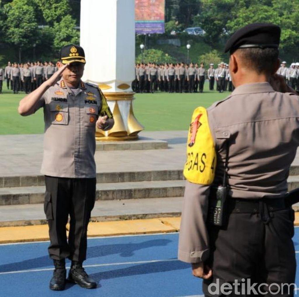 Polisi Perketat Pengamanan Sekitar Istana Bogor Pasca Pengumuman KPU