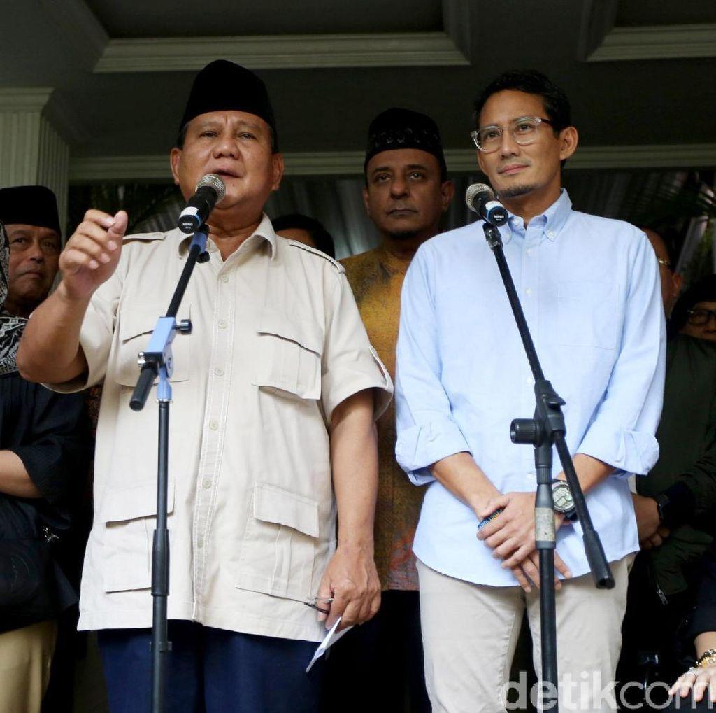Prabowo Soroti KPU Tetapkan Hasil Dini Hari
