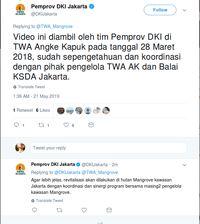 Twitwar Pemprov DKI Jakarta vs TWA Angke Kapuk Soal Video Mangrove