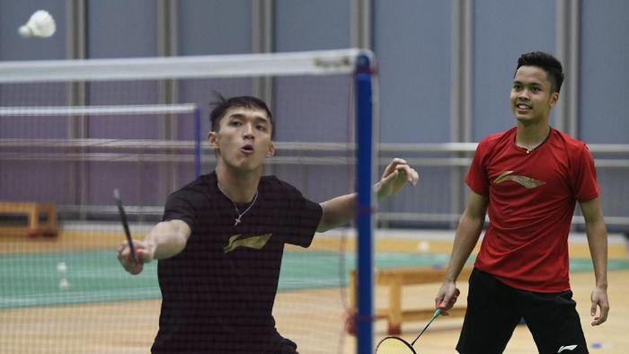 Jonatan Christie diharapkan tampil relaks di Indonesia Open 2019. (Wahyu Putro A/Antara)