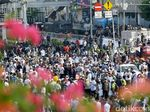 Massa Aksi Tolak Pemilu Curang Bagi-bagi Bunga ke Polisi