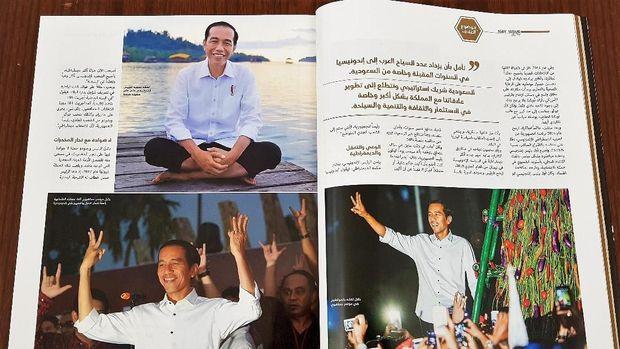 Beberapa foto Presiden Jokowi di halaman majalah Ar-Rajul