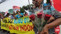 Massa Mulai Sambangi KPU, Tolak People Power