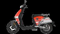 Kini, skuter listrik Super Soco CUx Ducati sudah diperkenalkan dengan grafis khas Ducati berkelir merah. Foto: Istimewa
