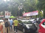 Spanduk Ucapan Selamat Prabowo Terpilih Jadi Presiden Mejeng di Kertanegara